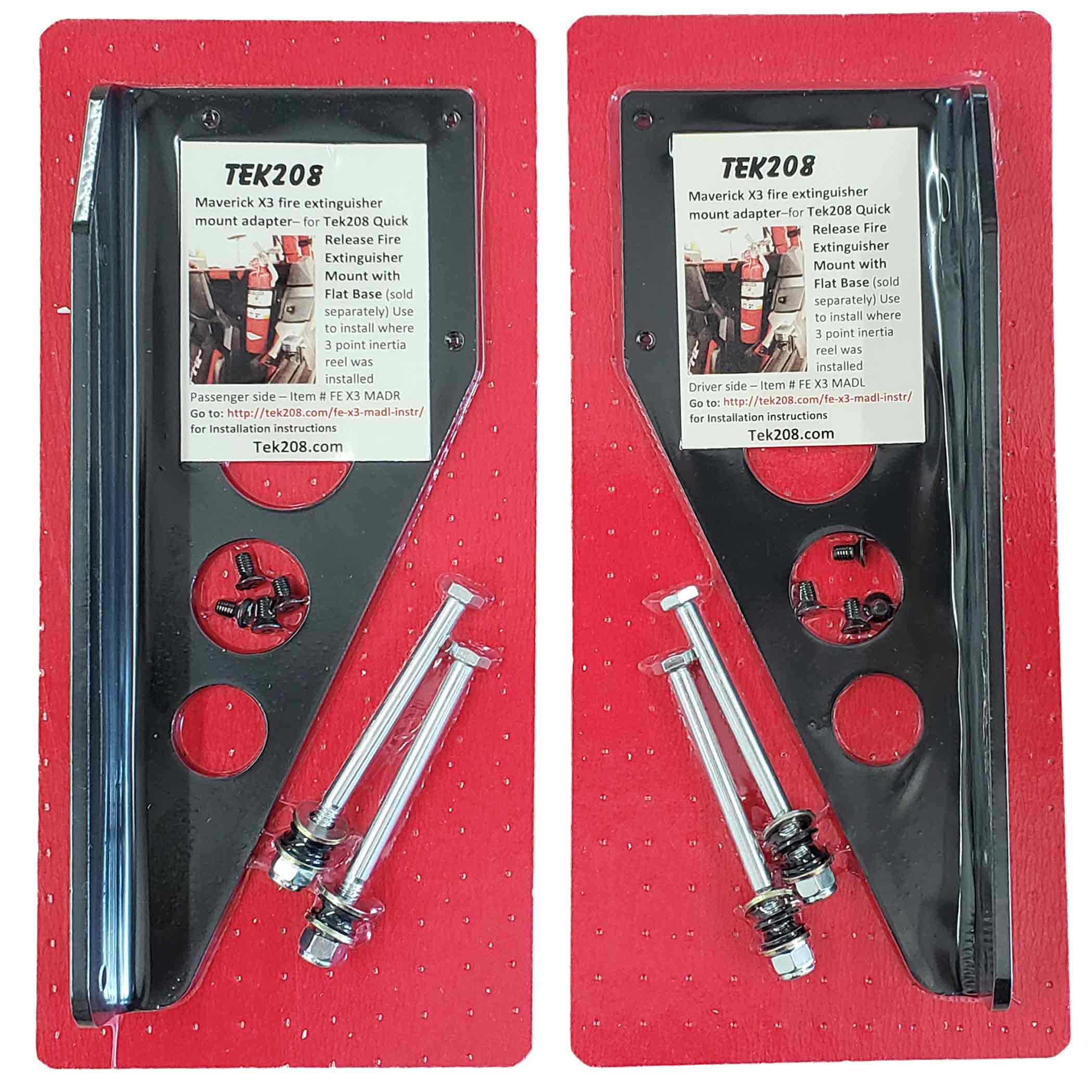 Can Am Maverick X3 Fire extinguisher mount